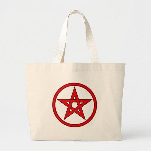 Pentagram rojo y negro bolsas