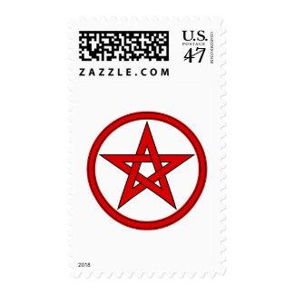 Pentagram rojo y negro sellos