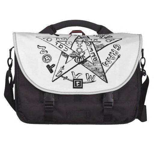 Pentagram satánico bolsa para ordenador