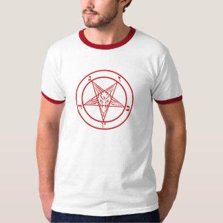 Pentagram satánico de Baphomet Playera