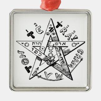 Pentagram satánico ornamentos de reyes magos