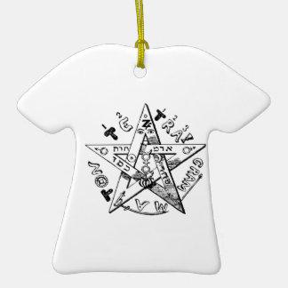Pentagram satánico adorno de navidad