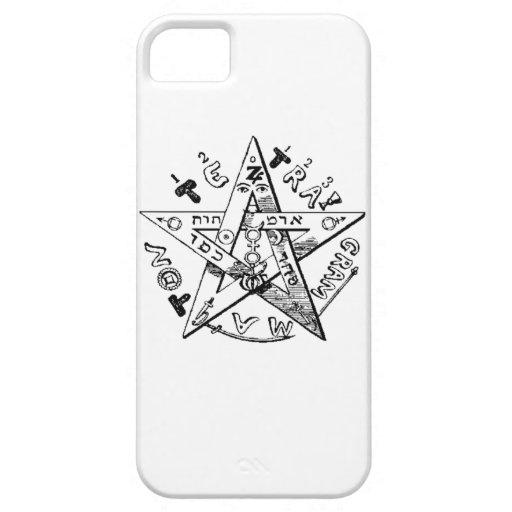 Pentagram satánico iPhone 5 funda