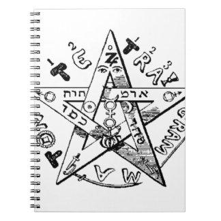 Pentagram satánico libreta espiral