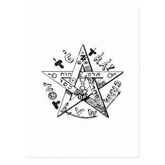 Pentagram satánico postal
