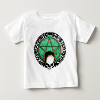 Pentagram skirt and roll skull baby T-Shirt