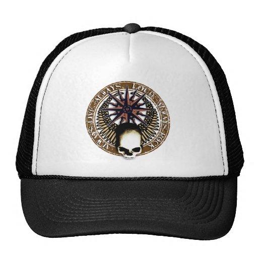 Pentagram skirt and roll skull trucker hat