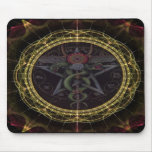 Pentagram Snakes Mouse Pad