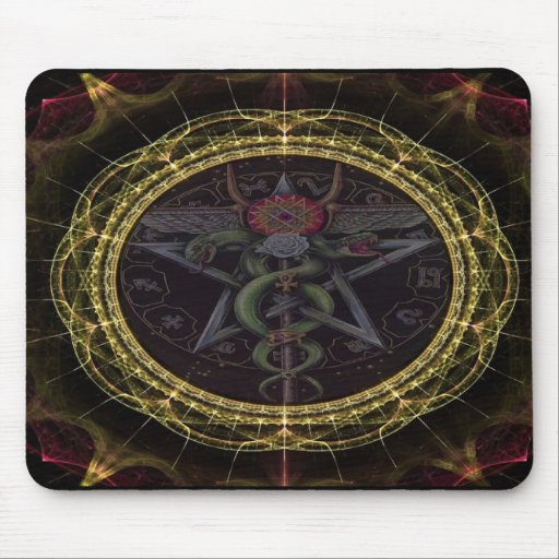 Pentagram Snakes Mouse Pads