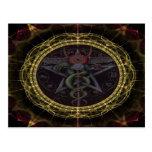 Pentagram Snakes Post Card
