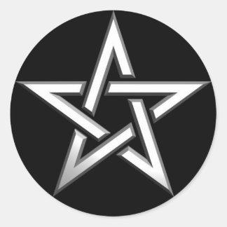 Pentagram-star Classic Round Sticker
