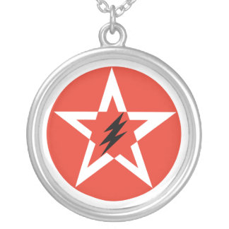 Pentagram Star Round Pendant Necklace