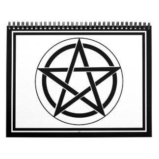 Pentagram Symbol Calendar