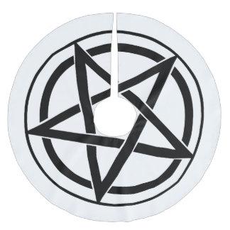 Pentagram Symbol - Five-Pointed Star Brushed Polyester Tree Skirt