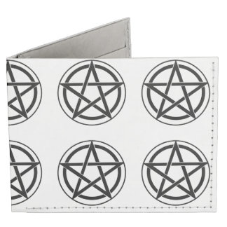 Pentagram Symbol - Five-Pointed Star Billfold Wallet