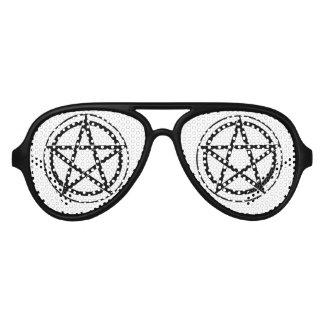 Pentagram Symbol - Five-Pointed Star Aviator Sunglasses