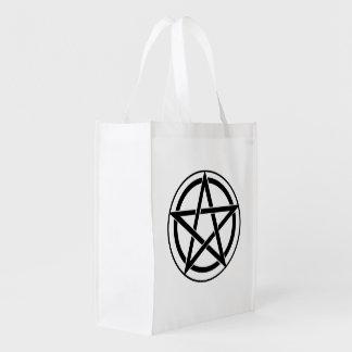 Pentagram Symbol - Five-Pointed Star Market Tote