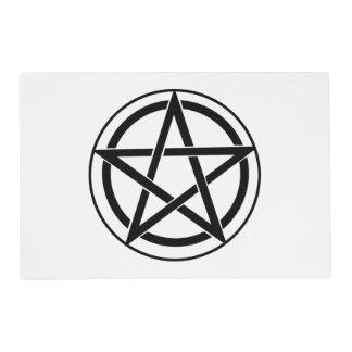 Pentagram Symbol - Five-Pointed Star Laminated Place Mat