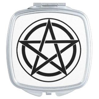 Pentagram Symbol - Five-Pointed Star Mirror For Makeup