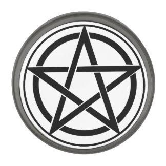 Pentagram Symbol - Five-Pointed Star Gunmetal Finish Lapel Pin