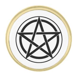 Pentagram Symbol - Five-Pointed Star Gold Finish Lapel Pin