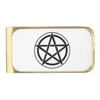 Pentagram Symbol - Five-Pointed Star Gold Finish Money Clip