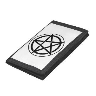 Pentagram Symbol - Five-Pointed Star Trifold Wallets