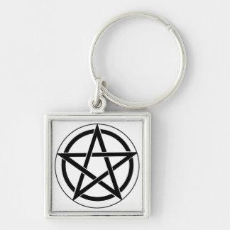 Pentagram Symbol Key Chain