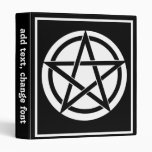 Pentagram Symbol on White Binders