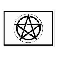 Pentagram Symbol on White Business Card Templates