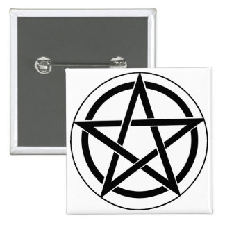 Pentagram Symbol Pinback Button