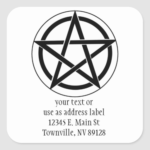 Pentagram Symbol Square Sticker