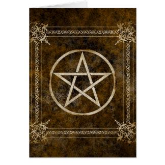 Pentagram Tarjeta De Felicitación