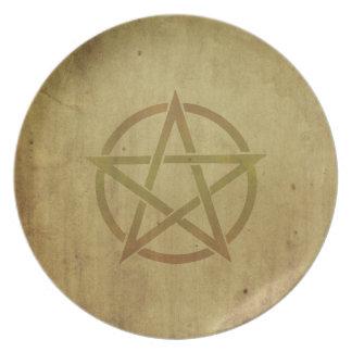 Pentagram Textured Dinner Plate