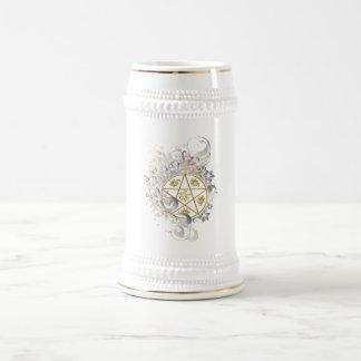 Pentagram Toasting & Ceremonial Flagon Stein - 3 18 Oz Beer Stein