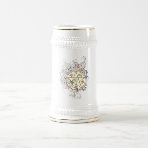 Pentagram Toasting & Ceremonial Flagon Stein - 3 Coffee Mugs