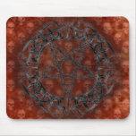 Pentagram tribal negro tapete de ratón