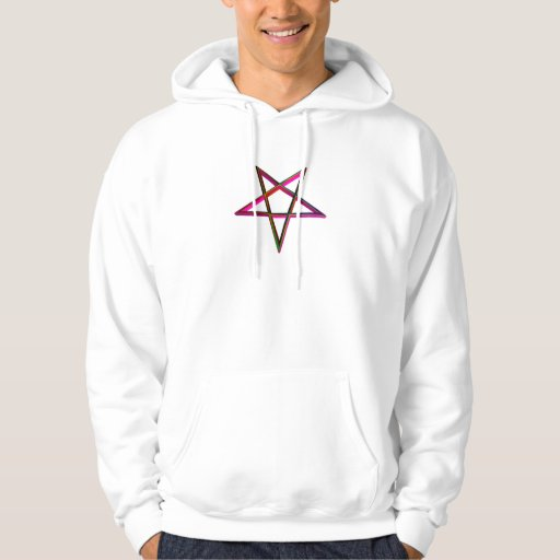 Pentagram tridimensional invertido sudaderas con capucha