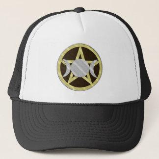 Pentagram Triple Goddess Wicca Pagan Cap Hat