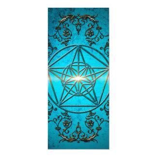 """Pentagram, un símbolo místico y mágico invitación 4"""" x 9.25"""""""