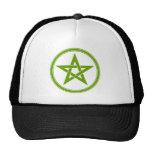 Pentagram verde oliva del pentáculo gorros