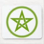Pentagram verde oliva del pentáculo tapete de raton