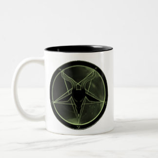 Pentagram verde tazas