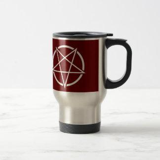 Pentagram (white) No.1 15 Oz Stainless Steel Travel Mug