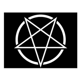 Pentagram (white) No.1 Postcard