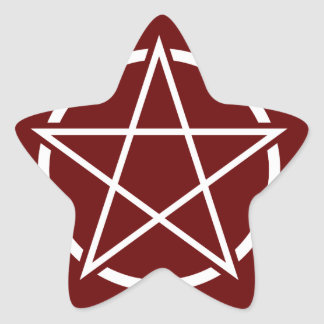 Pentagram (white) No.1 Star Sticker