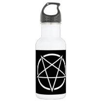 Pentagram (white) No.1 Water Bottle
