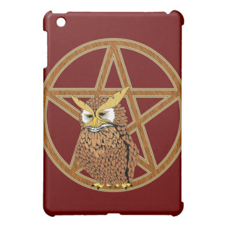 Pentagram Wicca Pagan Totem Owl iPad Mini Case