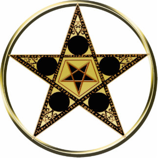 Pentagram with inverted Star Cutout