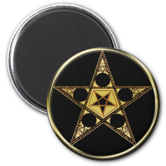 Pentagram With Upside Down Star Magnet
